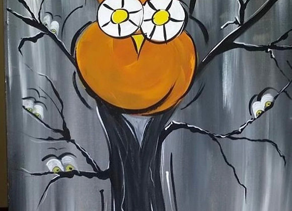 Owl Canvas Class Thur. 9/23 @5pm