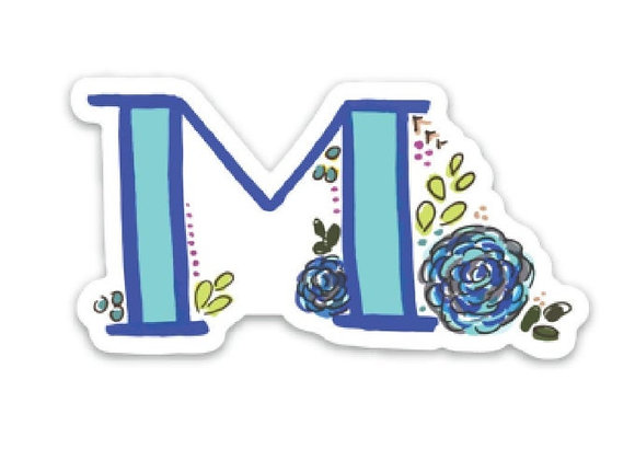 Letter M Monogram Decal