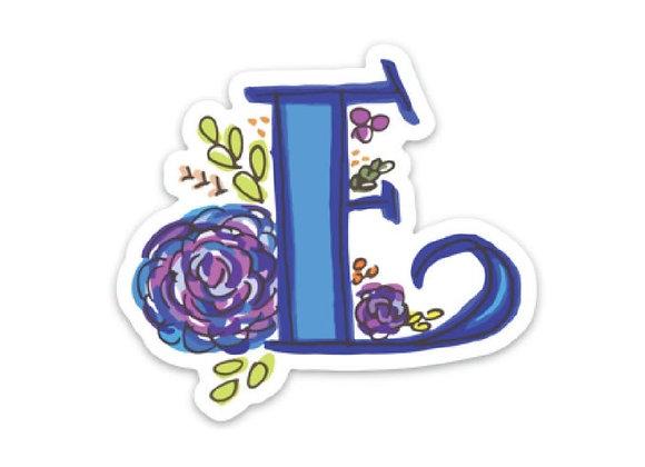 Letter E Monogram Decal