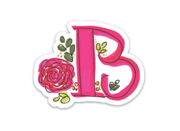 Letter B Monogram Decal