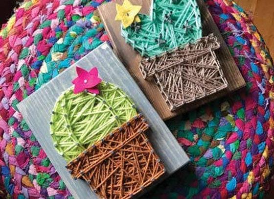 Cactus Mini String Art Kit