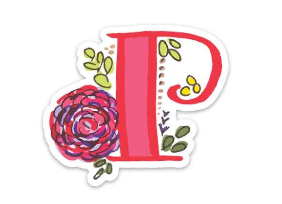 Letter P Monogram Decal