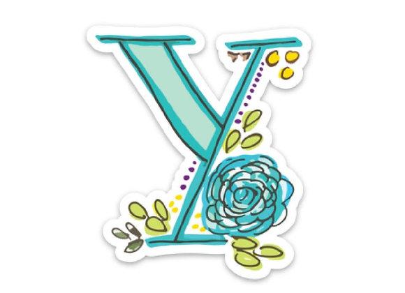 Letter Y Monogram Decal
