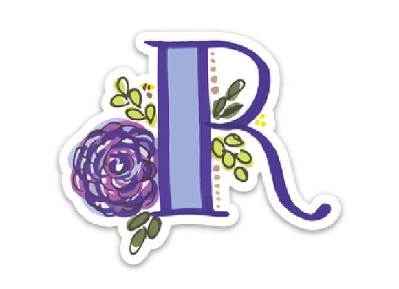 Letter R Monogram Decal