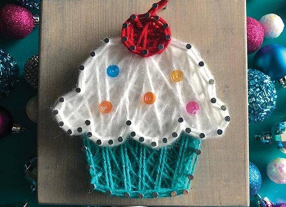 Cupcake Mini String Art Kit