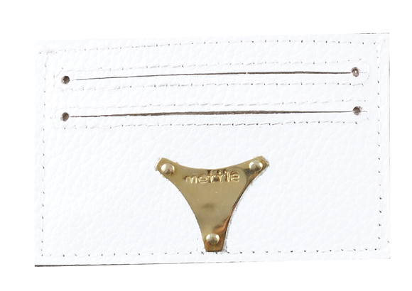 LEATHER CARD HOLDER / WALLET - WHITE