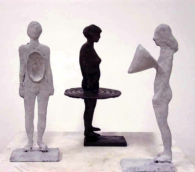 girlfriends, freundinnen, bronzesculpture
