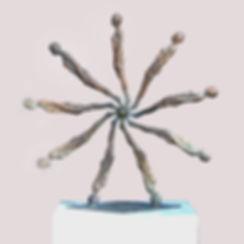 fortuna, bronze, sculpture, skulptur