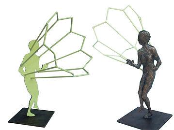 sunshine, bronze sculpture, varnished