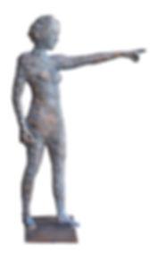 zeigerin, bronze, sandcasting, indicator