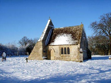 Chancel in the snow, Leigh