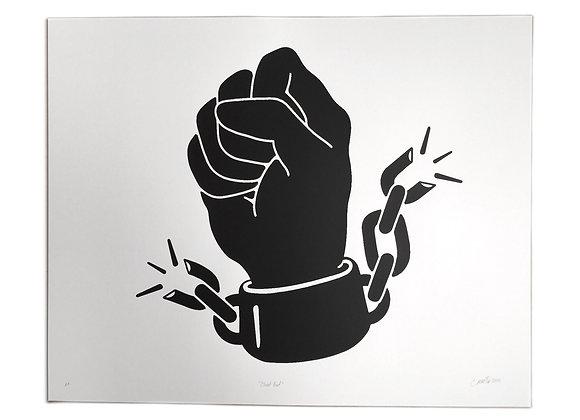 Closed Fist Screen Print
