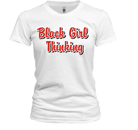 Black Girl Thinking Tee