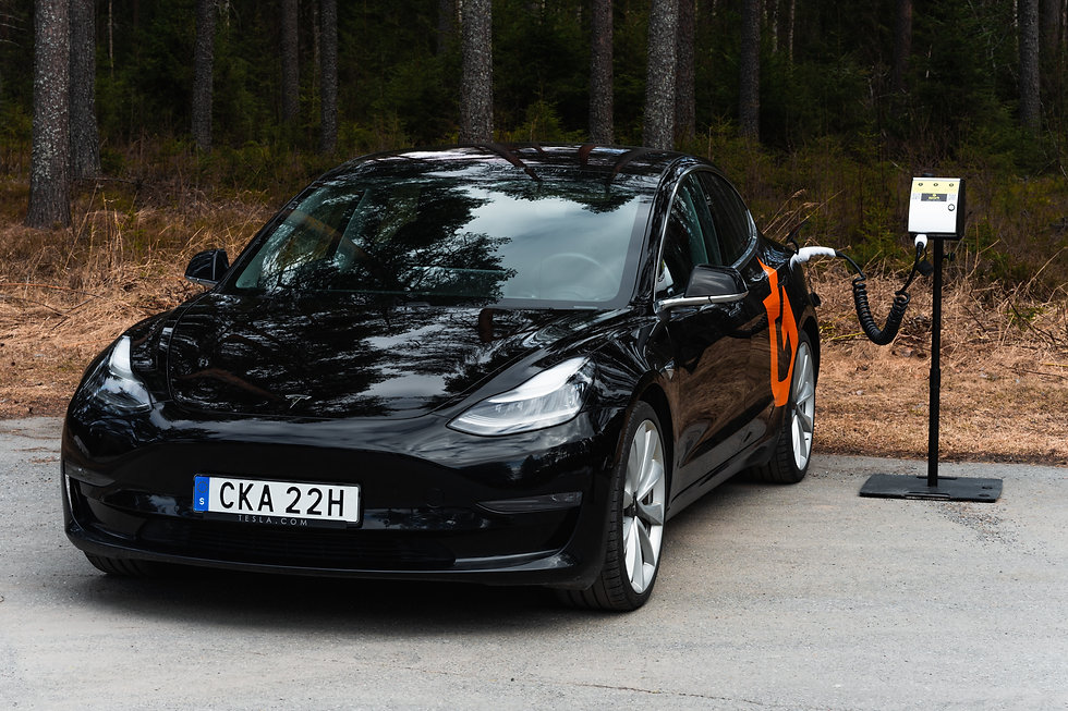Tesla electric car charging with Zpark brand
