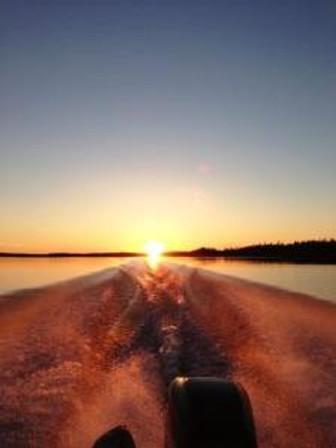 Kevins sunset wake