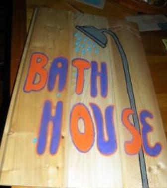bath house sign