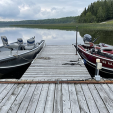 Boat slips have electric hookup and fuel access