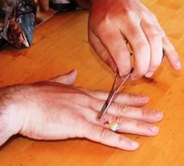 hooked finger