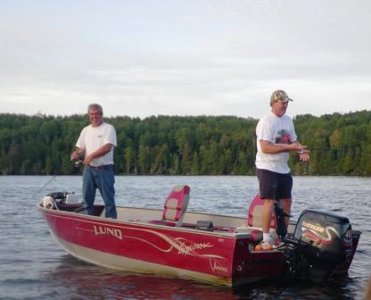 Steve got some fishing lessons from Ben.