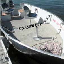 Standard Boat has flat bottom and swivel seats