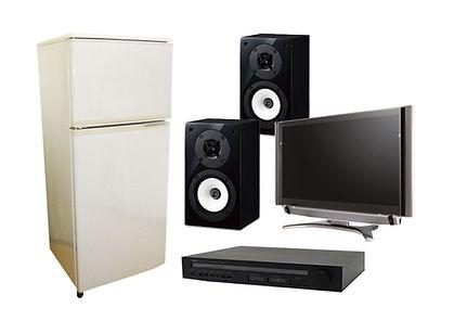 冷蔵庫 / スピーカー / オーディオ / DVDプレイヤー / ビデのデッキ / テレビ