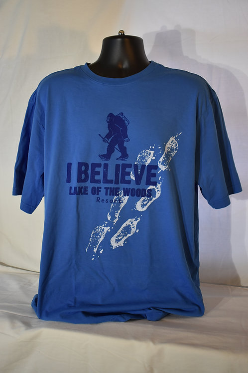Bigfoot Hiking I Believe Tee Shirt