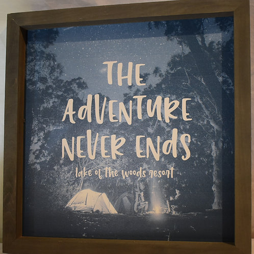 The Adventure Never Ends Wall Hanging