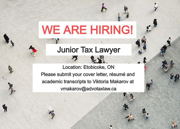 Advotax Law Hiring Tax Lawyer