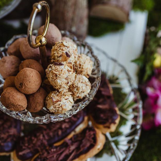 Truffles and Mini Eclairs