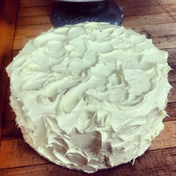 Vanilla mousse cake with French buttercream
