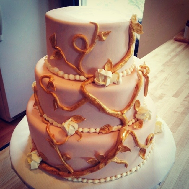 Instagram - Chicago wedding cake for Mr. and Mrs. DeWitt Scott