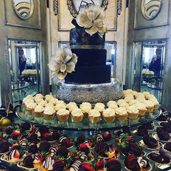 Pastry display for yesterday's wedding! #GlenTIEsTheKnot