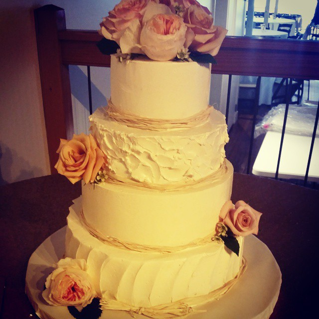 Instagram - Today's wedding cake for Mr. and Mrs
