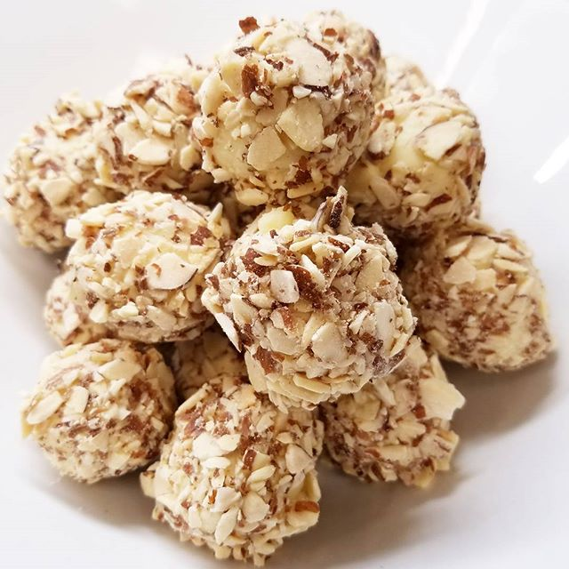White Chocolate Almond Truffles