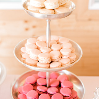 Chapagne, Rose and Chocolate Cabernet Macarons