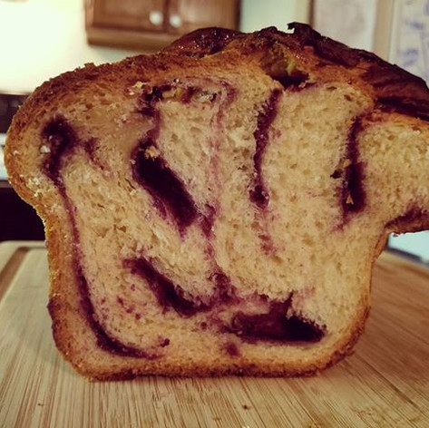 Purple Sweet Potato Babka
