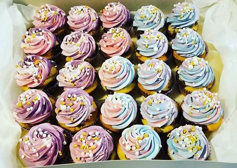 Mermaid Swirl Cupcakes