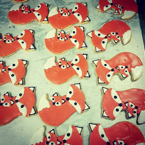 Fox Themed Shortbread Cookies