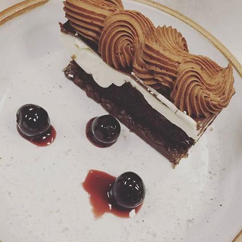 Luxardo Cherry and Dark Chocolate Torte