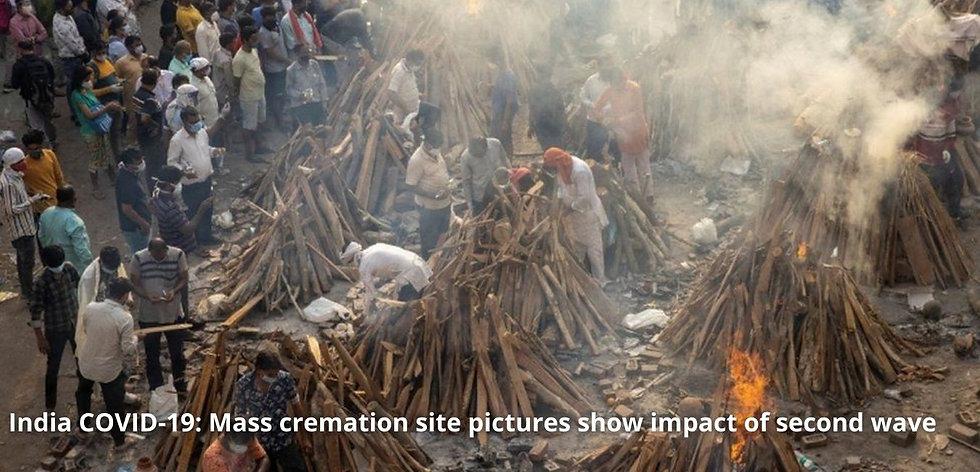 India COVID-19 Mass cremation site pictu