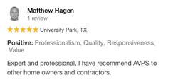 Avpstechnologies Google Review from Matthew Hagen