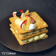 White Peach & Strawberry Napoleon 日本山梨縣糖浸白桃加士多啤梨拿破崙