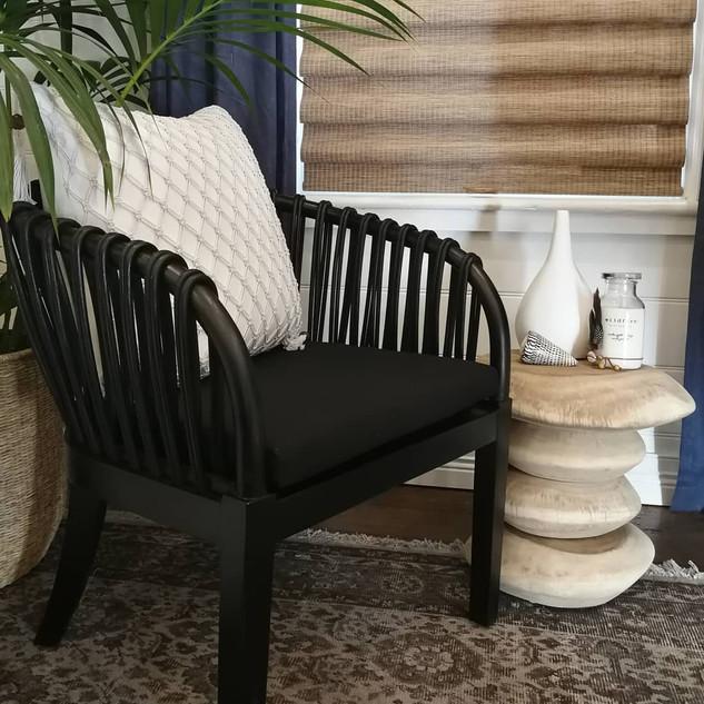 Rattan & Timber Tub Chair-11832