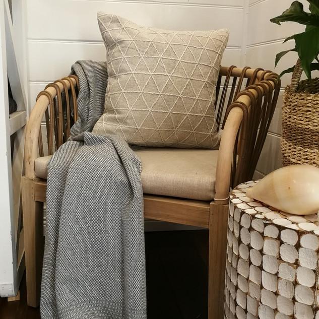 Rattan & Timber Tub Chair-10278