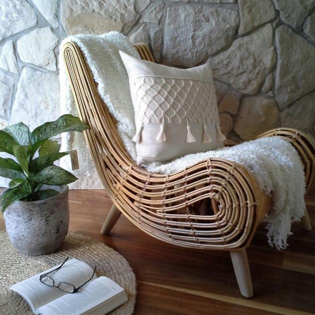 Natural Rattan Chair - 10277