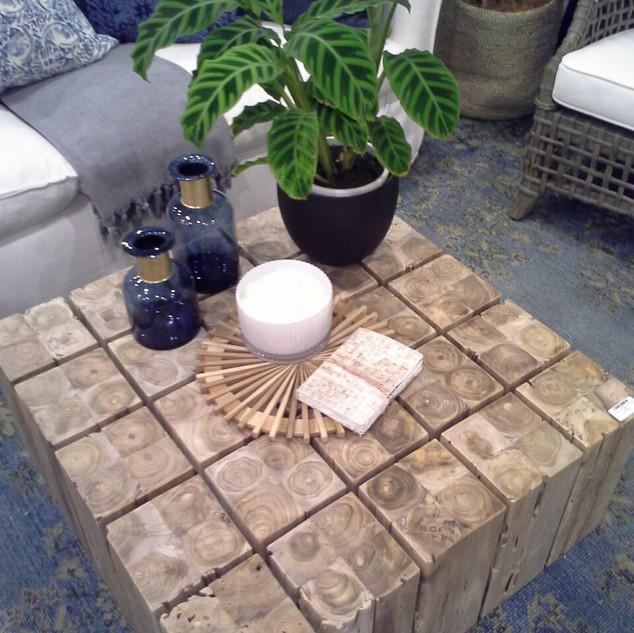 Wood Block Coffee Table -10916