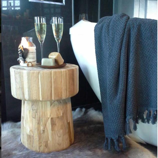 Wood Block Stool / Side Table-10627