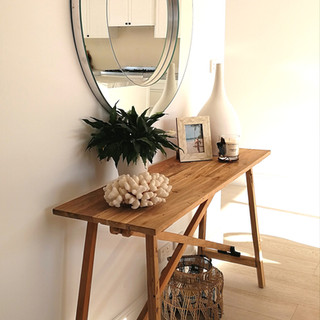 Reclaimed Teak Console Table- 12083