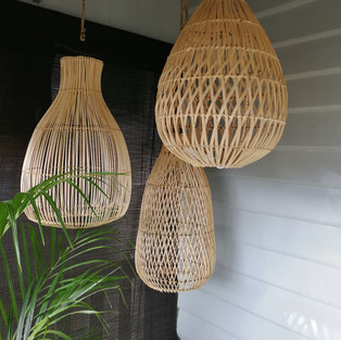 Handwoven Rattan Lighting