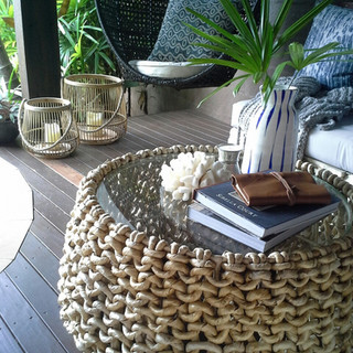 Banana Leaf Coffee Table - 10842